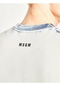 MSGM Bluza 2840MM166 207089 Niebieski Regular Fit. Kolor: niebieski