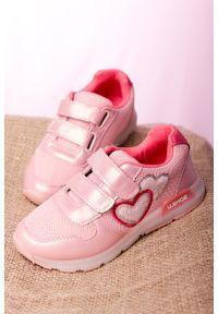 Casu - różowe buty sportowe na rzepy casu x506b. Zapięcie: rzepy. Kolor: różowy