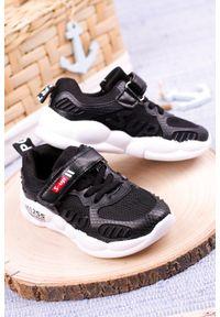Casu - Czarne buty sportowe na rzep casu 204/13m. Zapięcie: rzepy. Kolor: czarny