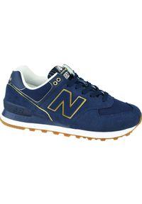 Niebieskie buty sportowe New Balance z cholewką, New Balance 574