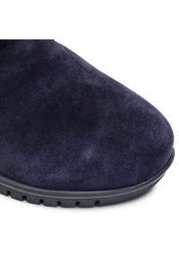 Niebieskie botki Comfortabel z cholewką, na obcasie