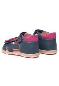 RenBut - Sandały RENBUT - 11-1557 Jeans 1. Kolor: niebieski. Materiał: skóra. Wzór: aplikacja #6