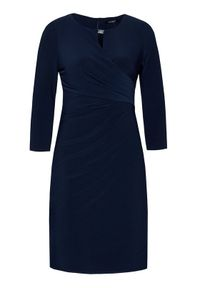 Lauren Ralph Lauren Sukienka koktajlowa 250836339001 Granatowy Regular Fit. Kolor: niebieski. Styl: wizytowy