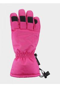 outhorn - Rękawiczki narciarskie damskie. Materiał: poliester, skóra, materiał, syntetyk. Sport: narciarstwo