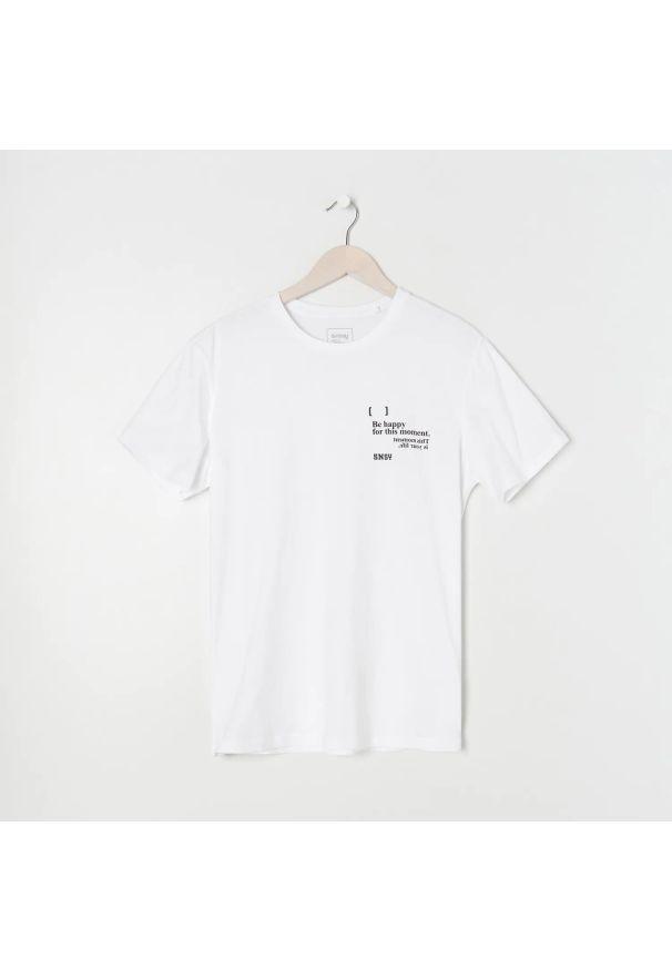Sinsay - Koszulka z nadrukiem - Biały. Kolor: biały. Wzór: nadruk