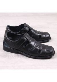 Czarne sandały Gregor na lato