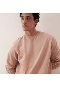 Reserved - Gładka bluza basic - Różowy. Kolor: różowy. Wzór: gładki