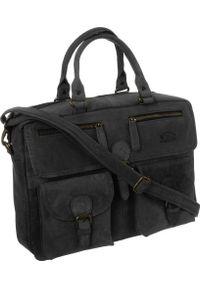 Torba Badura Skórzana torba męska na laptopa z przegródkami Badura. Materiał: skóra