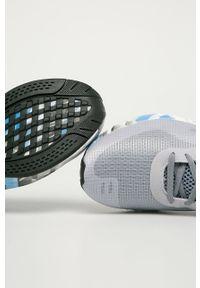 Szare buty sportowe Reebok z cholewką, na sznurówki, z okrągłym noskiem
