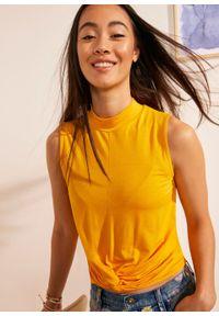Żółta bluzka bonprix ze stójką