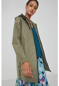 medicine - Medicine - Płaszcz przeciwdeszczowy Essential. Kolor: zielony. Materiał: materiał. Długość rękawa: raglanowy rękaw. Wzór: gładki