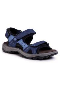 Niebieskie sandały Salamander na co dzień, casualowe
