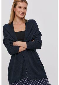 Niebieski sweter rozpinany Jacqueline de Yong długi, z długim rękawem, gładki