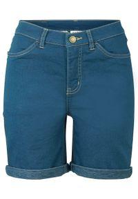 Bermudy dżinsowe jogger bonprix głęboki niebieski. Kolor: niebieski