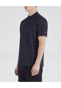 PAUL & SHARK - Granatowy t-shirt z printem. Okazja: na co dzień. Kolor: niebieski. Materiał: bawełna, jeans. Wzór: nadruk. Styl: casual