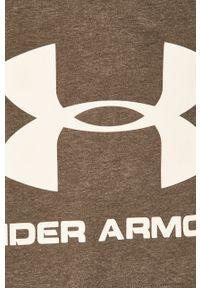 Under Armour - Szorty. Kolor: szary. Wzór: nadruk