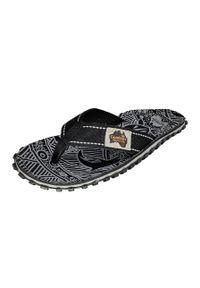 Gumbies - Japonki. Nosek buta: okrągły. Kolor: czarny. Materiał: bawełna, materiał, guma