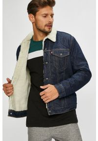 Niebieska kurtka Levi's® w kolorowe wzory, casualowa