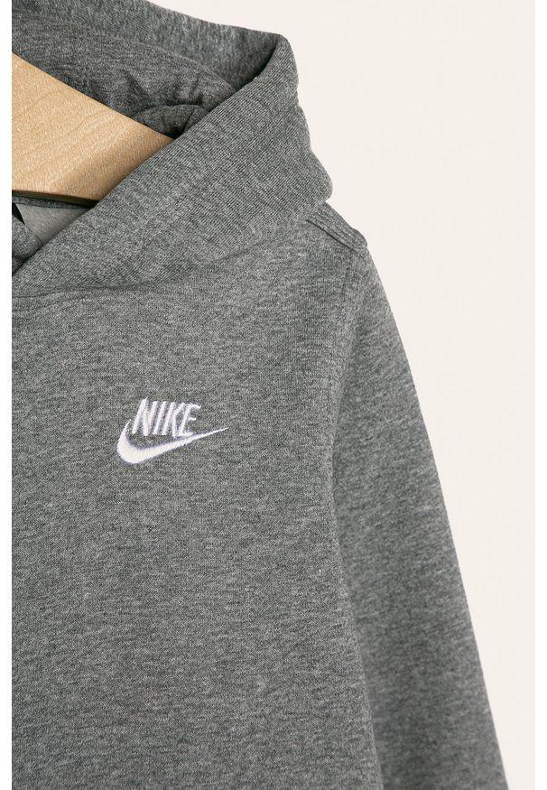 Szara bluza Nike Kids z kapturem, na co dzień