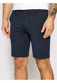 Only & Sons - ONLY & SONS Szorty materiałowe Mark 22018669 Granatowy Regular Fit. Kolor: niebieski. Materiał: materiał
