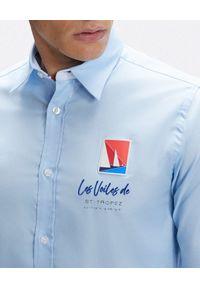 North Sails - NORTH SAILS - Błękitna koszula Saint-Tropez. Kolor: niebieski. Materiał: materiał. Długość rękawa: długi rękaw. Długość: długie. Wzór: aplikacja