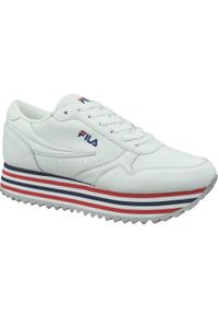 Białe buty sportowe Fila z cholewką