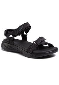 Czarne sandały skechers casualowe, na co dzień