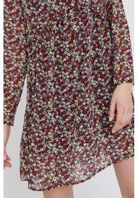 Wielokolorowa sukienka Answear Lab z długim rękawem, rozkloszowana