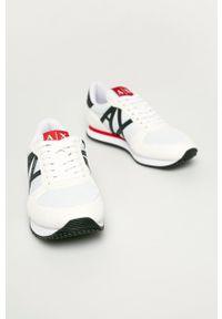 Armani Exchange - Buty. Nosek buta: okrągły. Zapięcie: sznurówki. Kolor: biały. Materiał: guma