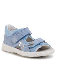 Niebieskie sandały Superfit casualowe, na co dzień, z aplikacjami