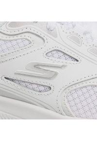 Białe buty do fitnessu skechers na co dzień, z cholewką
