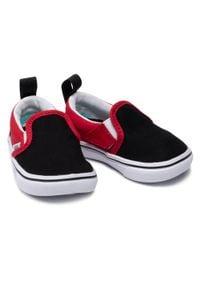 Vans - Tenisówki VANS - Comfycush Slip-On VN0A4TZK35U1 (Checkerboard) Black/Red. Zapięcie: bez zapięcia. Kolor: wielokolorowy, czarny, czerwony. Materiał: materiał