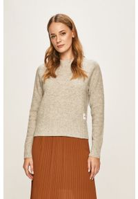 Szary sweter Calvin Klein Jeans casualowy, na co dzień, raglanowy rękaw