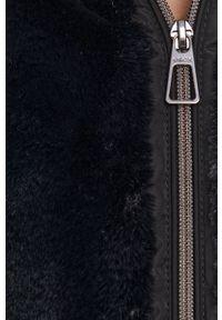 Geox - Kurtka. Kolor: czarny. Materiał: włókno, materiał. Wzór: gładki