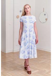 Marie Zélie - Sukienka Galatea Versailles. Materiał: bawełna, skóra, materiał, elastan. Długość rękawa: krótki rękaw