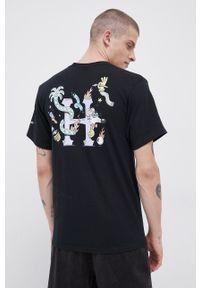 HUF - T-shirt bawełniany x Steven Harrington. Okazja: na co dzień. Kolor: czarny. Materiał: bawełna. Wzór: nadruk. Styl: casual
