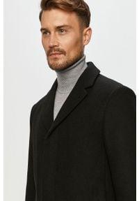 Czarny płaszcz Clean Cut Copenhagen bez kaptura, klasyczny, na co dzień