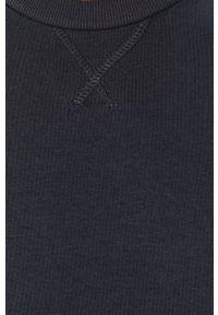 Niebieska bluza nierozpinana Brave Soul na co dzień, casualowa, z okrągłym kołnierzem