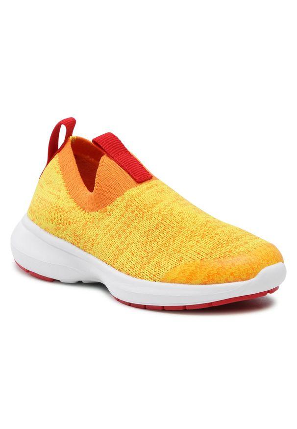 Reima - Sneakersy REIMA - Bouncing 569413-2440 Mango 2440. Zapięcie: bez zapięcia. Kolor: żółty. Materiał: materiał. Szerokość cholewki: normalna