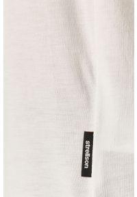 Biały t-shirt Strellson casualowy, na co dzień