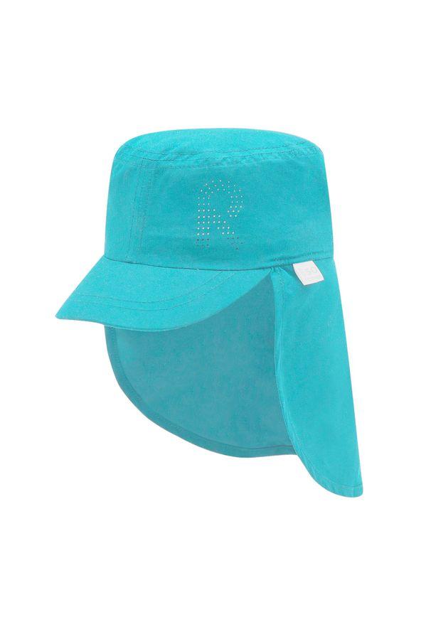 Reima - Czapka z daszkiem REIMA - Biitsi 528705 Aquatic 7330. Kolor: niebieski. Materiał: poliester, materiał
