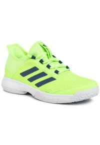 Zielone półbuty Adidas z cholewką