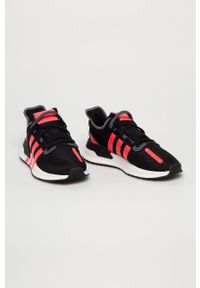 Czarne sneakersy adidas Originals na sznurówki, do biegania, z cholewką