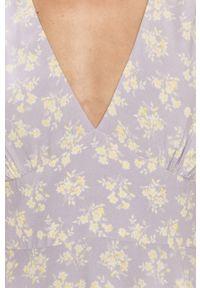 Wielokolorowa sukienka Pepe Jeans z krótkim rękawem, prosta, mini, casualowa