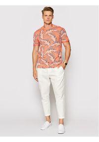 Only & Sons T-Shirt Iason 22016762 Pomarańczowy Slim Fit. Kolor: pomarańczowy
