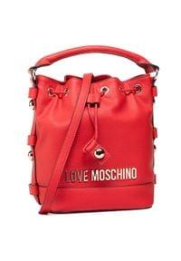 Czerwona torebka worek Love Moschino skórzana
