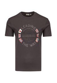 T-shirt Napapijri z nadrukiem