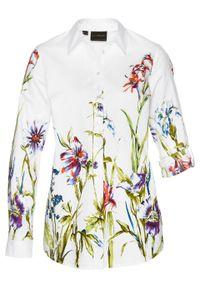 Bluzka w kwiaty bonprix biały w kwiaty. Kolor: biały. Wzór: kwiaty