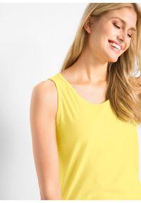 Żółty top bonprix melanż, długi