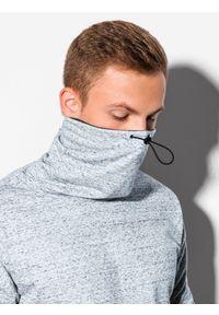 Szara bluza Ombre Clothing ze stójką
